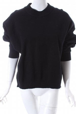 Zara Knit Oversized Pullover schwarz Kuschel-Optik
