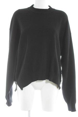 Zara Knit Oversized Pullover schwarz minimalistischer Stil