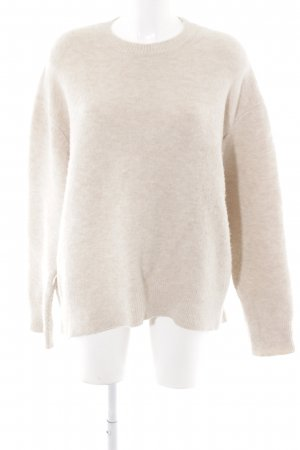 Zara Knit Oversized Pullover wollweiß Casual-Look