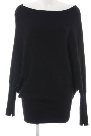 Zara Knit Poncho zwart extravagante stijl