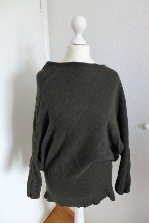 Zara Knit Pulli Pullover asymmetrisch dunkelgrün Gr. 36