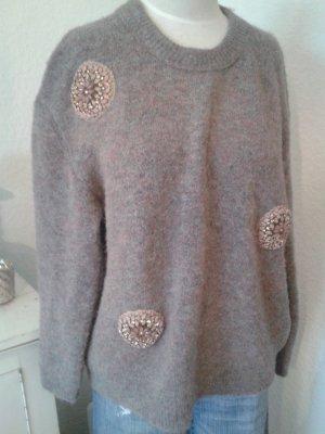 Zara Knit Sweater rose-gold-coloured-light grey