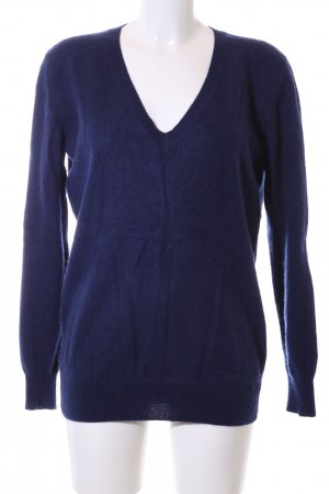 Zara Knit Pullover blau meliert Business-Look