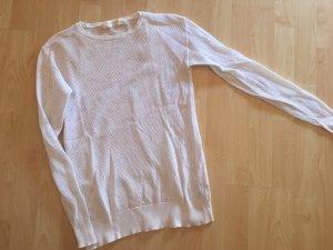 Zara Knit Maglione lungo bianco