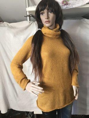 Zara Knit Jersey de punto naranja dorado