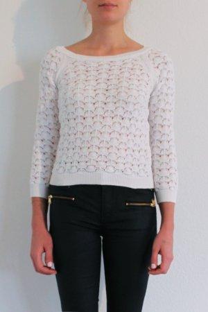 Zara Knit Pullover Häkel-Optik