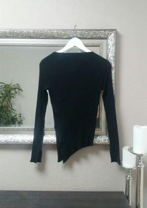 ZARA Knit Pullover Ripp Oberteil Blogger Asymmetrisch Schlitz Gr. S 36