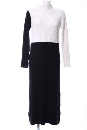 Zara Knit Sweater Dress white-black casual look