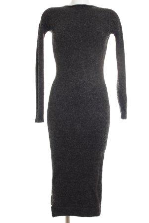Zara Knit Vestido tipo jersey gris antracita-gris moteado estilo urbano