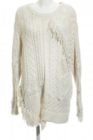 Zara Knit Sweater Dress cream-natural white casual look