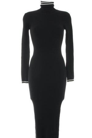 Zara Knit Abito maglione nero stile casual