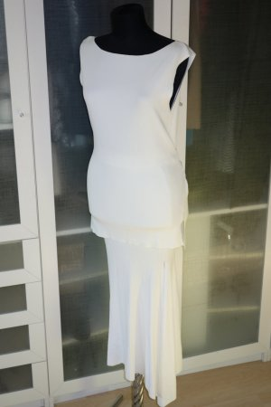 ZARA Knit Rip Oberteil/Top in weiß Gr.M