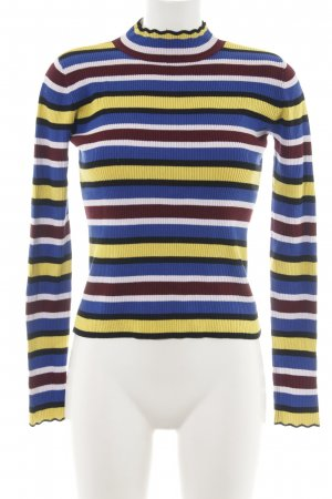 Zara Knit Ribbed Shirt allover print business style