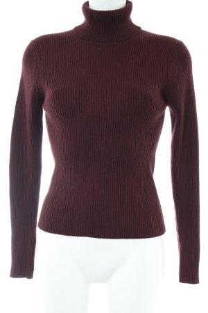 Zara Knit Coltrui rood zakelijke stijl