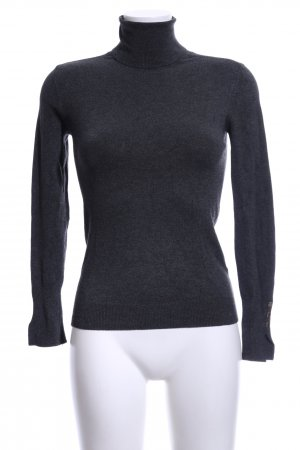 Zara Knit Pull-over à col roulé noir moucheté style décontracté