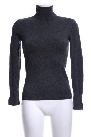 Zara Knit Rollkragenpullover schwarz meliert Casual-Look
