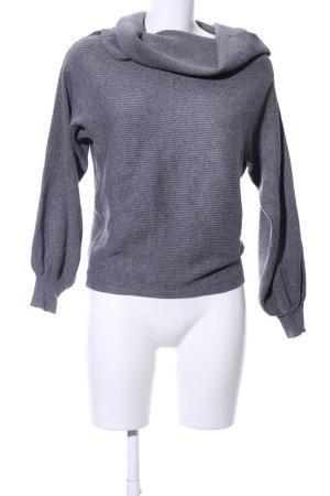 Zara Knit Pull-over à col roulé gris clair style décontracté