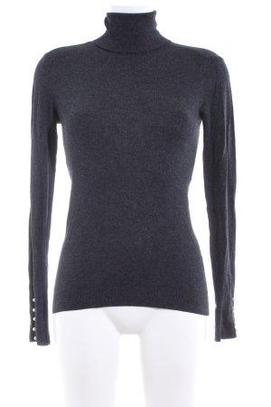 Zara Knit Maglione dolcevita grigio chiaro puntinato stile casual