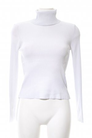 Zara Knit Rollkragenpullover weiß Business-Look