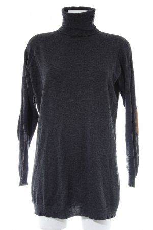 Zara Knit Coltrui antraciet casual uitstraling