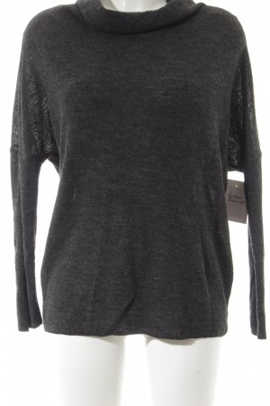 Zara Knit Rollkragenpullover anthrazit Casual-Look