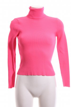 Zara Knit Coltrui roze casual uitstraling