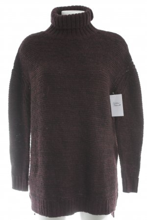 Zara Knit Turtleneck Sweater brown violet casual look