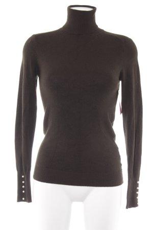 Zara Knit Rollkragenpullover dunkelgrün Casual-Look