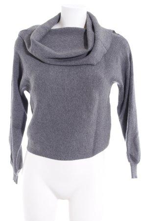Zara Knit Rollkragenpullover grau Casual-Look