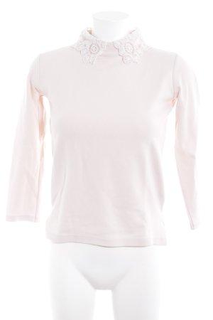 Zara Knit Rollkragenpullover rosé Casual-Look