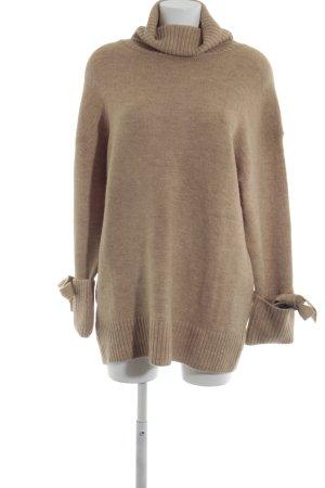 Zara Knit Maglione dolcevita sabbia stile casual 93228a232a95