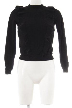 Zara Knit Rollkragenpullover schwarz Elegant
