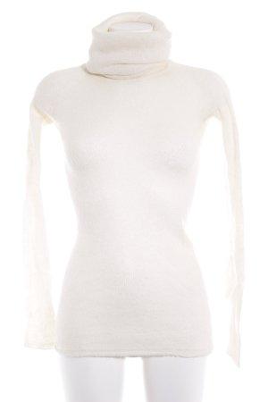 Zara Knit Rollkragenpullover wollweiß Casual-Look
