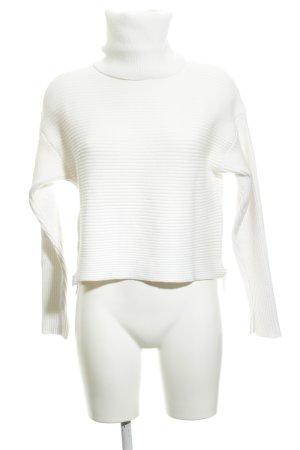 Zara Knit Rollkragenpullover wollweiß schlichter Stil