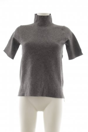 Zara Knit Rollkragenshirt grau Business-Look