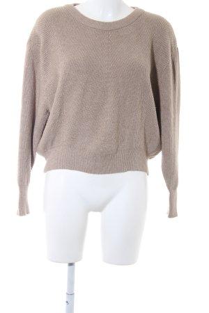 Zara Knit Rundhalspullover beige Casual-Look
