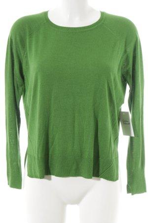 Zara Knit Rundhalspullover grün Street-Fashion-Look