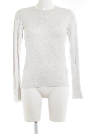 Zara Knit Rundhalspullover hellgrau-weiß meliert Street-Fashion-Look