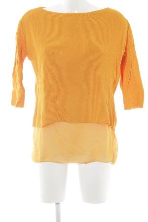 Zara Knit Rundhalspullover orange Lagen-Look