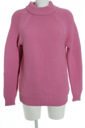 Zara Knit Crewneck Sweater pink casual look