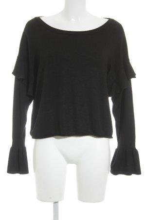 Zara Knit Maglione girocollo nero stile casual