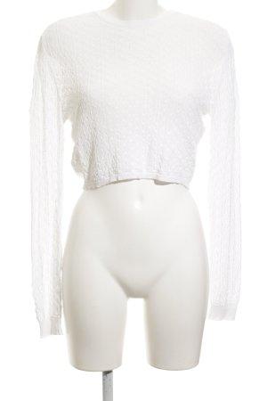 Zara Knit Rundhalspullover weiß Casual-Look