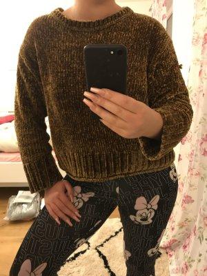 Zara Knit Samt Pullover weich flauschig