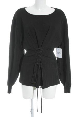 Zara Knit Slip-over blouse zwart elegant