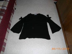 Zara Pull tricoté noir viscose