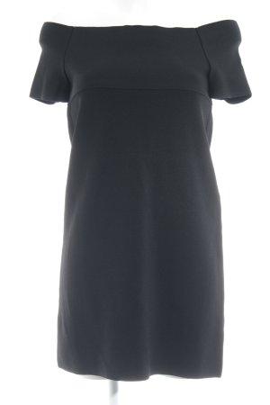 Zara Knit schulterfreies Kleid schwarz Casual-Look