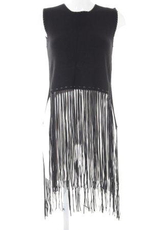 Zara Knit schulterfreies Top schwarz 70ies-Stil