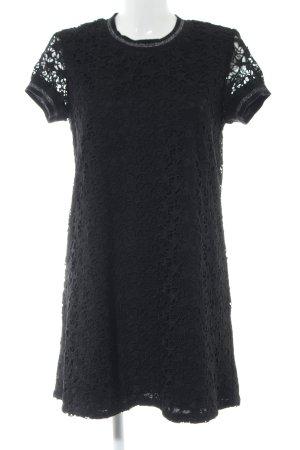 Zara Knit Spitzenkleid schwarz Casual-Look