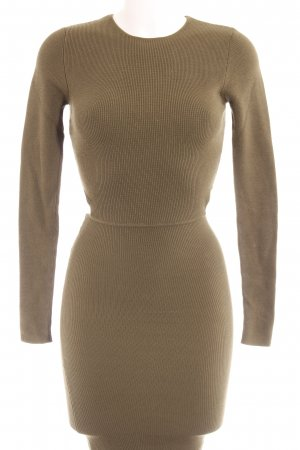 Zara Knit Stretchkleid grüngrau Casual-Look