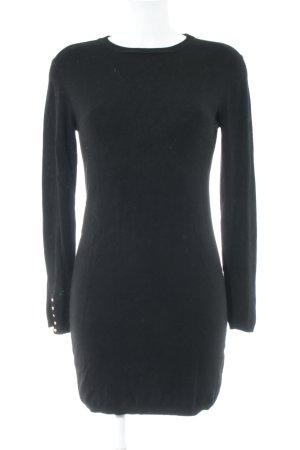 Zara Knit Stretchkleid schwarz schlichter Stil